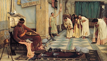 The Favourites of the Emperor Honorious by John William Waterhouse