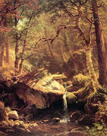 The Mountain Brook by Albert Bierstadt