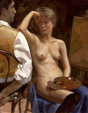 Artist and Model at Rest I by Andrew Sterrett Conklin