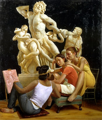 Students with Laocöon by Andrew Sterrett Conklin