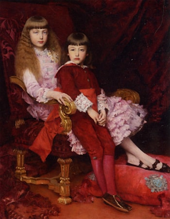 Portrait of the Duc de Chartres Children by Gabriel Joseph Marie Augustin Ferrier