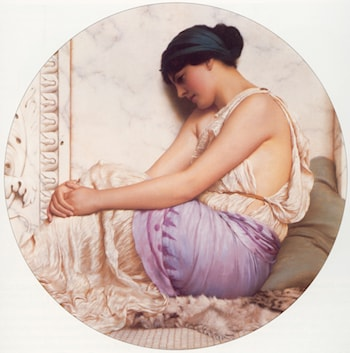 A Grecian Girl by John William Godward