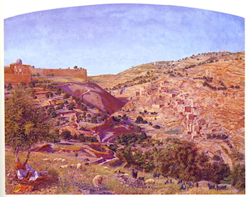 Jerusalem and the Valley of Jehoshaphat from the Hill of Evil Counsel by Thomas B. Seddon