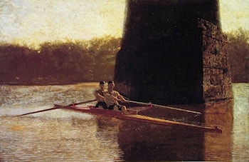 The Pair­Oared Scull by Thomas Eakins