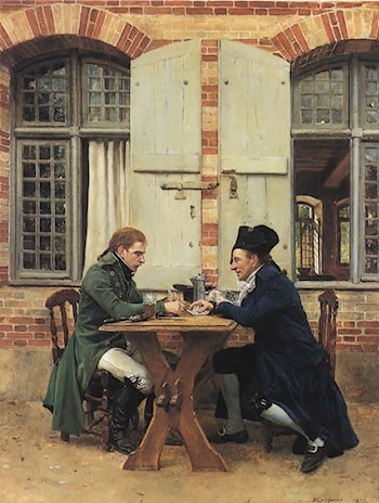 The Card Players by Jean-Louis Ernest Meissonier