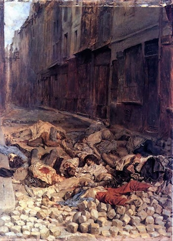 The Barricade by Jean-Louis Ernest Meissonier