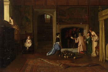 The Jacobites Escape the Punch Room by William Frederick Yeames