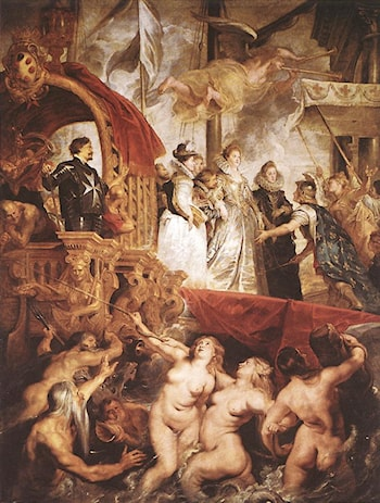 The Landing of Marie de' Médici at Marseilles by Peter Paul Rubens