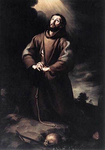 St Francis of Assisi at Prayer by Bartolome Esteban Murillo