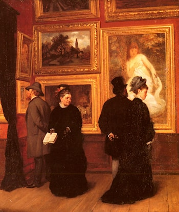 In The Picture Gallery by A. Muller-Schonhausen