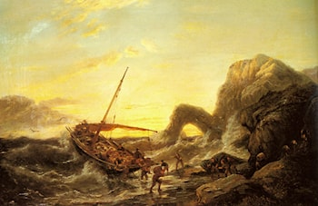 The Shipwreck by Pieter Christian Dommerson