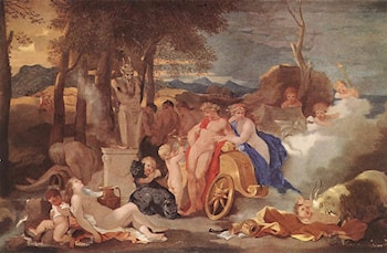 Bacchus and Ceres with Nymphs and Satyrs by Sebastien Bourdon