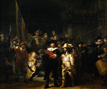 The Company of Frans Banning Cocq and Willem van Ruytenburch, known as the 'Night Watch' by Rembrandt