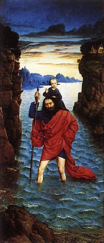 Saint Christopher by Dieric Bouts the Younger