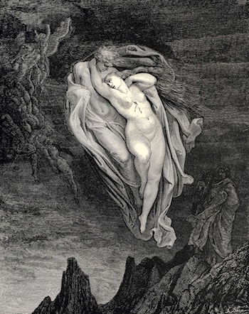 The Inferno, Canto 5, lines 72­74 by Gustave Dore