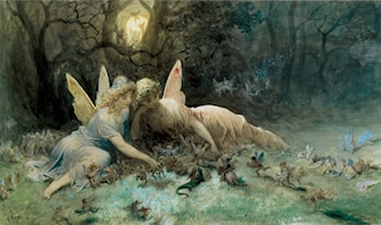 The Fairies - A Scene Drawn from William Shakespeare by Gustave Dore