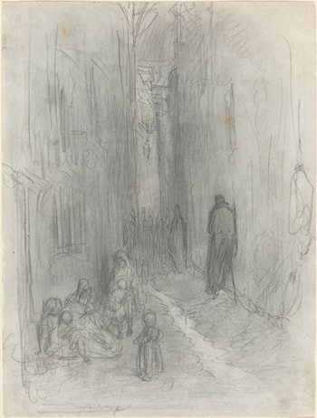 A Backstreet in London by Gustave Dore