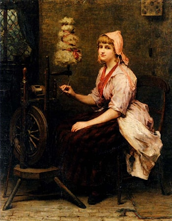 The Girl At The Spinning Wheel by Katherine D. M. Bywater