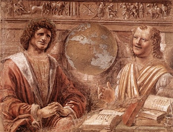 Heraclitus and Democritus by Bramante