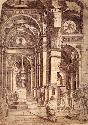 Interior of a Church by Bramante