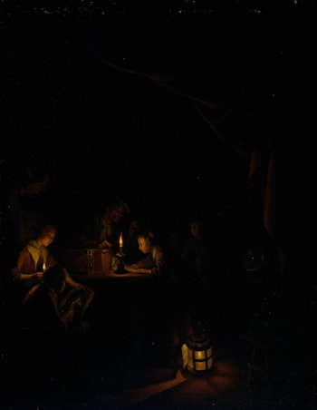The Night School by Gerrit Dou