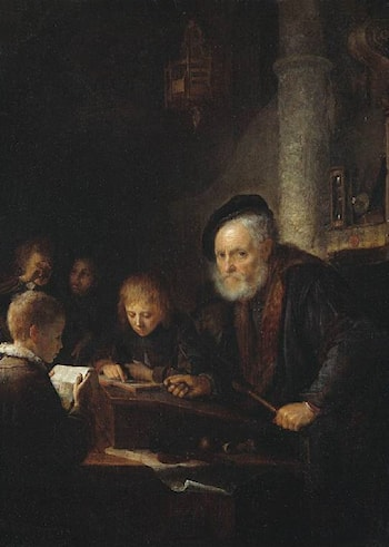 The Schoolmaster by Gerrit Dou