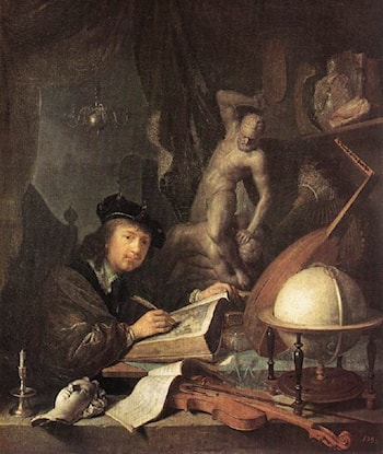The Painter in his Studio by Gerrit Dou