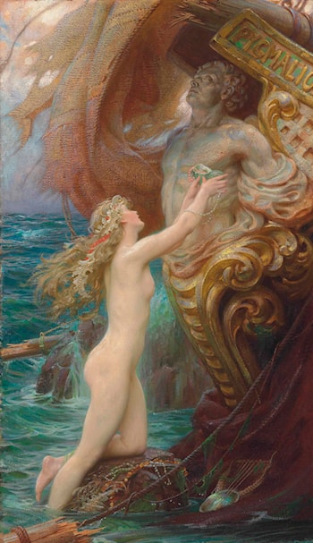 A Deep Sea Idyll by Herbert James Draper