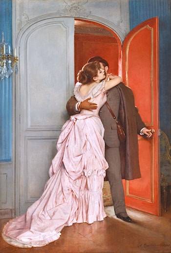 The Kiss by Auguste Toulmouche