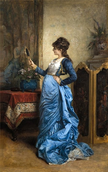 Reflection of Beauty by Auguste Toulmouche