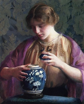 The Oriental Vase by William McGregor Paxton