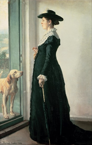 Portrait of My Wife by Michael Peter Ancher