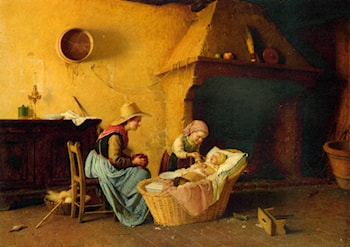 Feeding the Baby by Gaetano Chierici