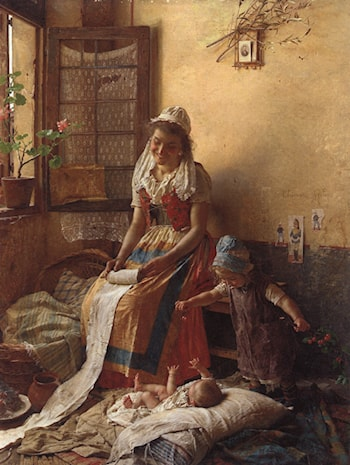 A Mothers Love by Gaetano Chierici