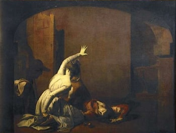 Romeo and Juliet by Joseph Wright of Derby
