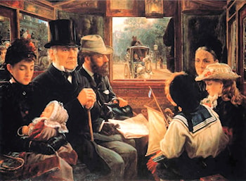 One of the People - Gladstone in an Omnibus by Alfred Morgan