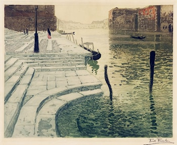 Marmortrappen by Frits Thaulow