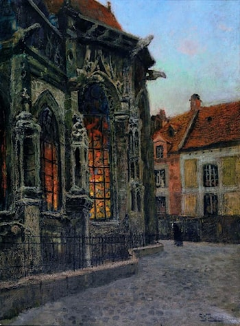 Apside at St. Jacques Church in Dieppe by Frits Thaulow