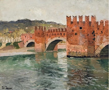 Old Bridge in Verona by Frits Thaulow