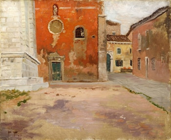 Red Church Wall in Venice by Frits Thaulow