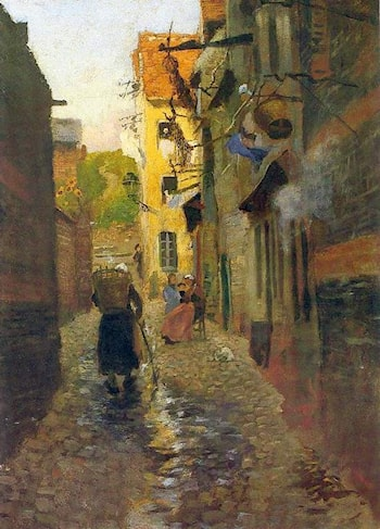 Street in Montreuil-sur-Mer by Frits Thaulow