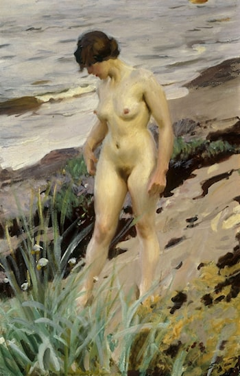 Nude on the Sandy Shore by Anders Zorn
