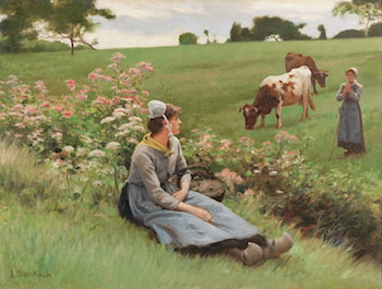 Rest in the Field by Edouard Bernard Debat-Ponsan