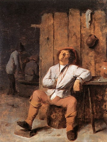A Boor Asleep by Adriaen Brouwer