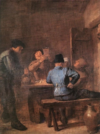 In the Tavern by Adriaen Brouwer