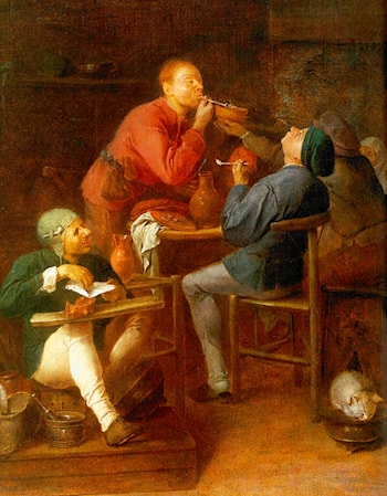 The Smokers by Adriaen Brouwer