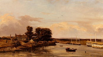 Bords De Riviere by Jules Dupre