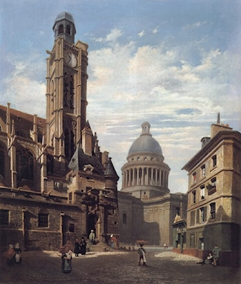 A View of The Pantheon and the Church of by Jules Dupre