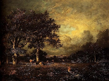Landscape with Cows by Jules Dupre