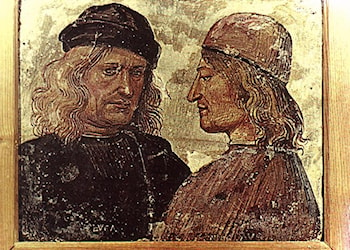 Self­portrait with Vitelozzo Vitelli by Luca Signorelli